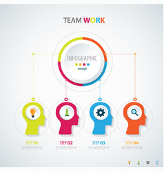 Infographic teamwork business concept vector