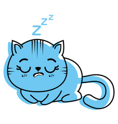 isolated cute cat sleeping vector image vector image