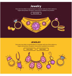 jewelry shop web banners or page flat vector image
