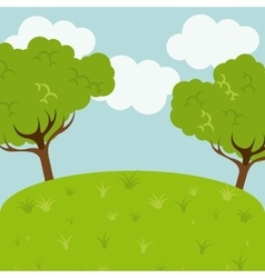 landscape background design vector image vector image