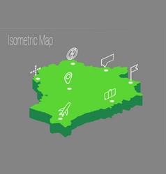 Map belarus isometric concept vector