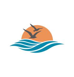 ocean logo design vector image vector image