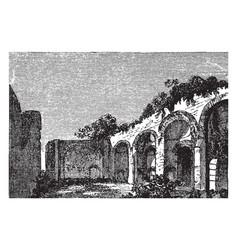 Ruins of the baths of caracalla roman public vector
