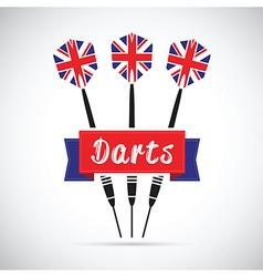 Uk darts vector