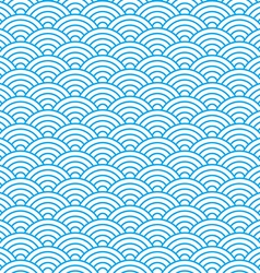 Waves seamless pattern in china ancient style vector