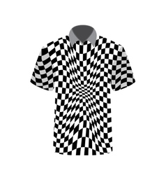 T-shirt depicting abstract psychedelic vector