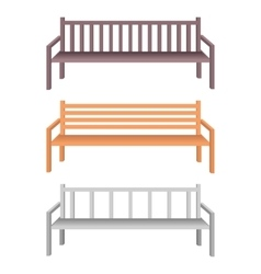 Wooden and metal park bench vector