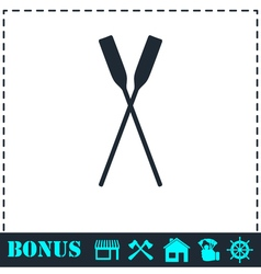 Paddle icon flat vector