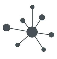 hierarchy icon network sign vector image
