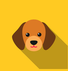dog muzzle icon in flat style for web vector image