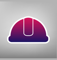 hardhat sign  purple gradient icon on vector image