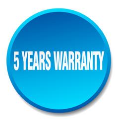 5 years warranty vector