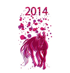 Happy chinese new year of horse 2014 background vector