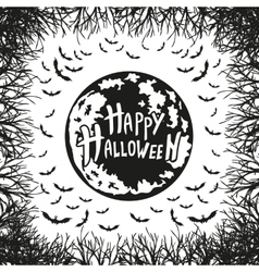 Abstract inscription happy halloween vector