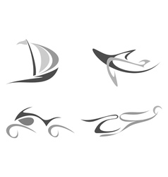 organic style symbols vector image