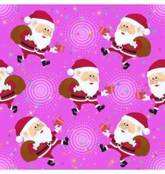 Santa claus seamless vector