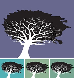 Tree splat background vector