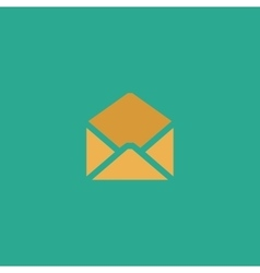 Envelope mail icon  flat vector