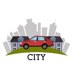 Urban city graphic vector