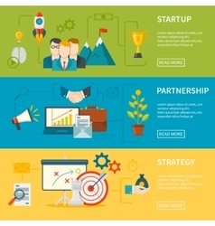 Entrepreneurship horizontal banners vector