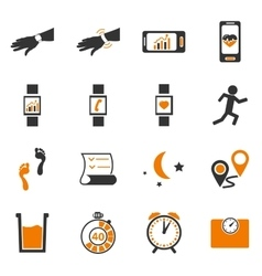 Jogging and workout icons set vector