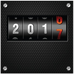 2017 new year analog counter vector