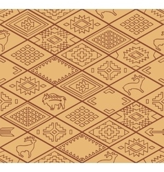 Seamless navajo pattern with rhombus line vector