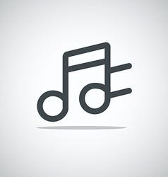 Modern media web icon Notes vector image