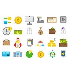 Banking isolated icons set vector