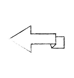arrow direction internet location side icon vector image