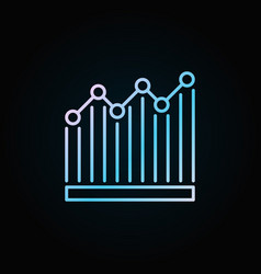 bar graph blue icon vector image