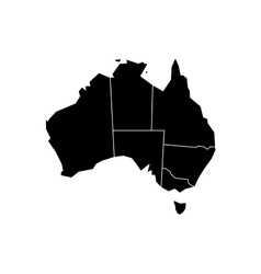Black map of Australia vector image vector image