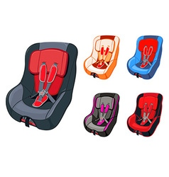 Child car seat vector
