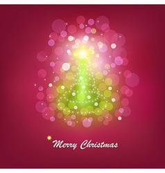 Christmas bright tree vector