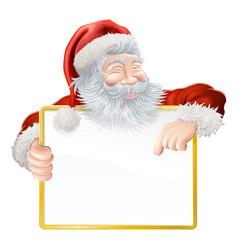 christmas santa claus sign vector image vector image