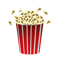 color movie pop corn icon vector image