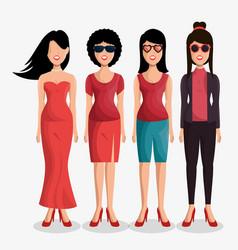 Cute women avatar icon vector