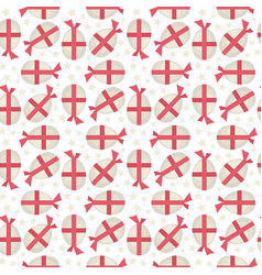 Egg with red bow seamless pattern vector