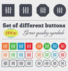 Equalizer icon sign Big set of colorful diverse vector image vector image
