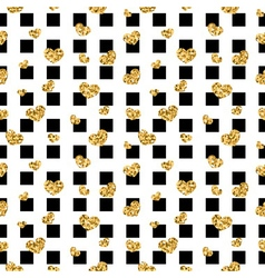 Golden hearts square seamless pattern vector