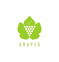 Grapes logo winemaking mark bunch of grapes on a vector image vector image