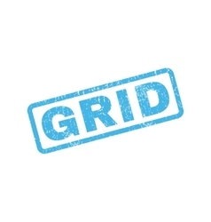 Grid rubber stamp vector