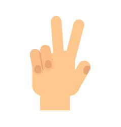 Hand gesture victory vector