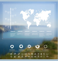 Landscape infographic vector image vector image