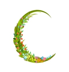 Letter c floral latin decorative character vector