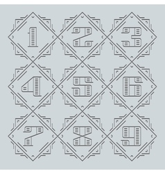 Line Numbers vector image vector image