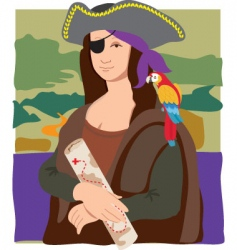 Mona Lisa pirate vector image vector image