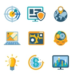 Process automation and increase efficiency icons vector