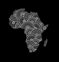 Silhouette of africa and madagascar map vector