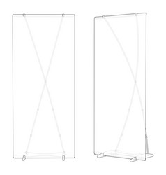 standing board sketch vector image
